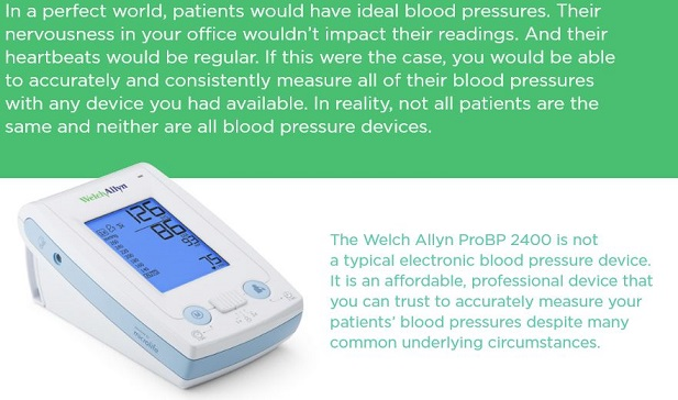 Welch Allyn ProBP 2400 Blood Pressure Caption 1